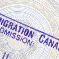 Canada passport stamp